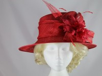 Failsworth Millinery Red Events Hat